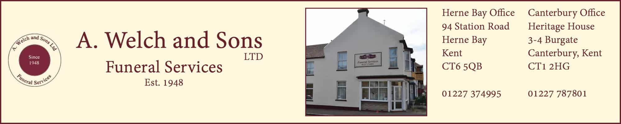A Welch and Sons | Funeral Directors | Herne Bay & Canterbury